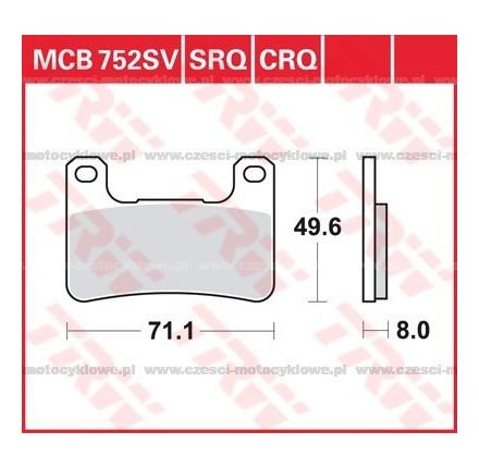 Klocki hamulcowe TRW MCB752SV