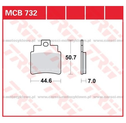 Klocki hamulcowe TRW MCB732SRM