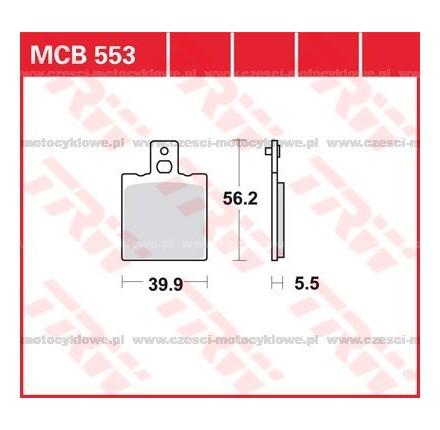Klocki hamulcowe TRW MCB553