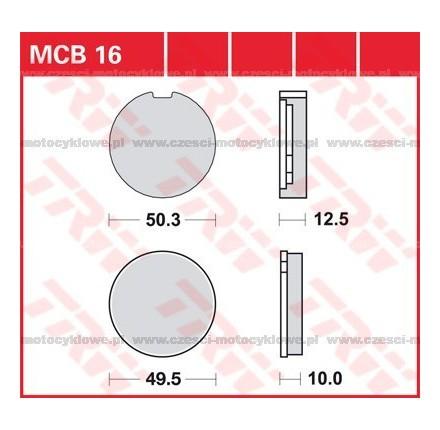 Klocki hamulcowe TRW MCB16