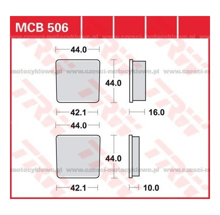Klocki hamulcowe TRW MCB506