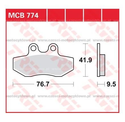 Klocki hamulcowe TRW MCB774