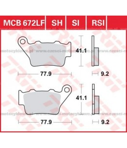 Klocki hamulcowe TRW MCB672SH