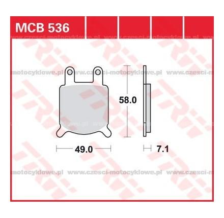 Klocki hamulcowe TRW MCB536