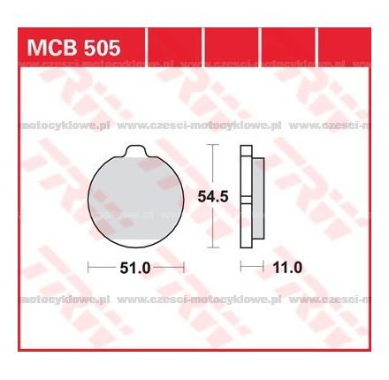 Klocki hamulcowe TRW MCB505
