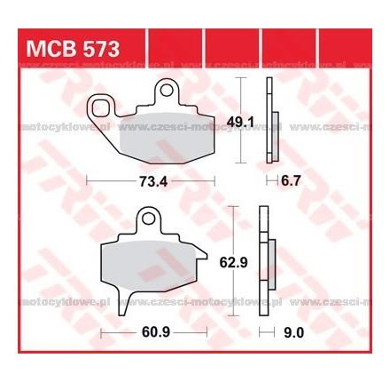 Klocki hamulcowe TRW MCB573