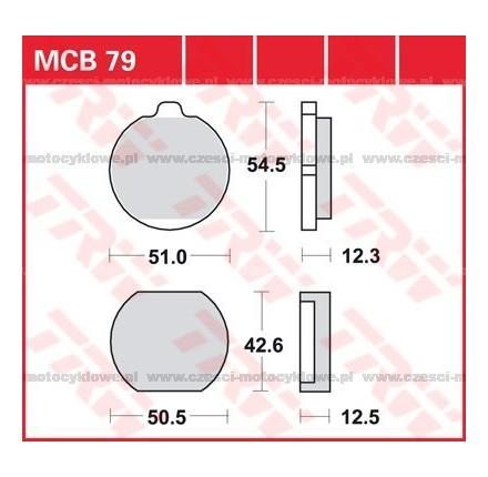 Klocki hamulcowe TRW MCB79