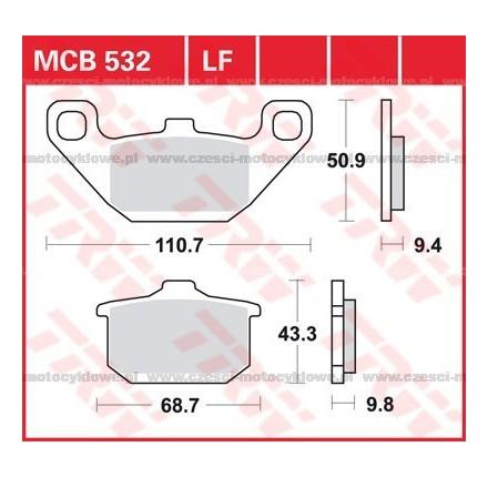 Klocki hamulcowe TRW MCB532