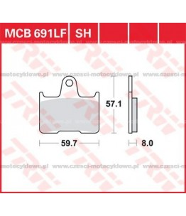 Klocki hamulcowe TRW MCB691SH
