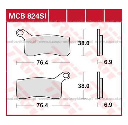 Klocki hamulcowe TRW MCB824SI