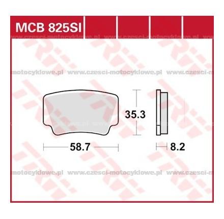 Klocki hamulcowe TRW MCB825SI