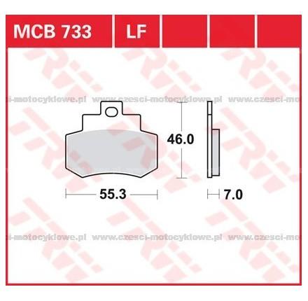 Klocki hamulcowe TRW MCB733SRM