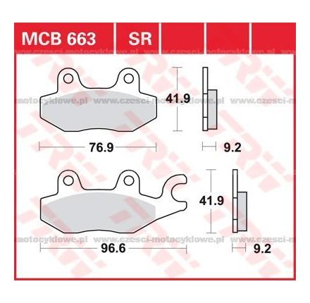 Klocki hamulcowe TRW MCB663SRM