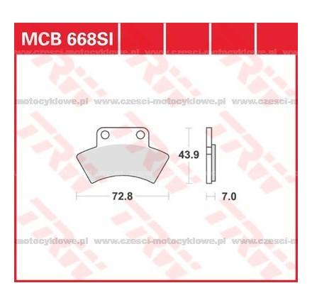 Klocki hamulcowe TRW MCB668SI