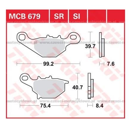 Klocki hamulcowe TRW MCB679SI