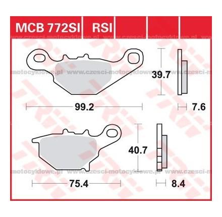 Klocki hamulcowe TRW MCB772SI