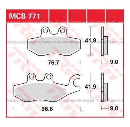 Klocki hamulcowe TRW MCB771