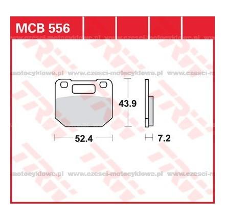 Klocki hamulcowe TRW MCB556