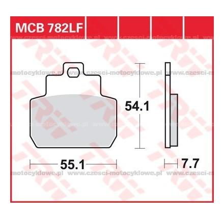 Klocki hamulcowe TRW MCB782