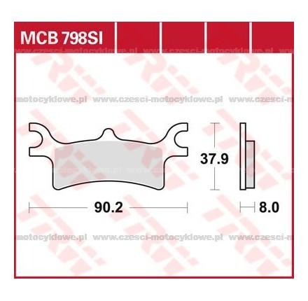 Klocki hamulcowe TRW MCB798SI