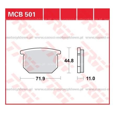 Klocki hamulcowe TRW MCB501
