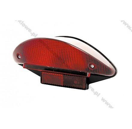 Światło tylne Superbike z czerwoną soczewką