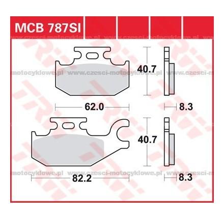 Klocki hamulcowe TRW MCB787SI