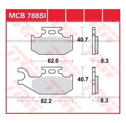 Klocki hamulcowe TRW MCB788SI