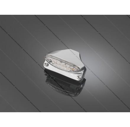 Światło tylne mocowane na błotniku, metalowa obudowa, chrom, posiada homologację EU. Producent: Highway Hawk.