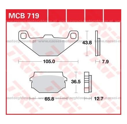 Klocki hamulcowe TRW MCB719