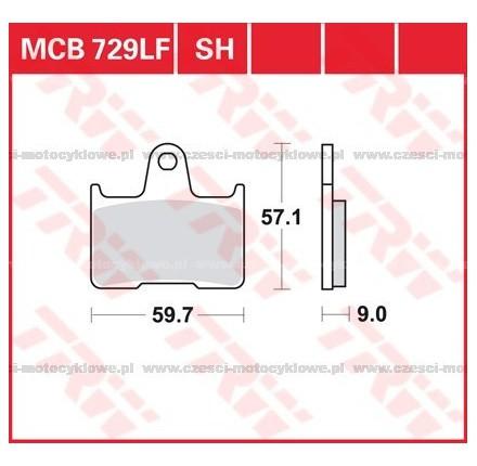 Klocki hamulcowe TRW MCB729SH