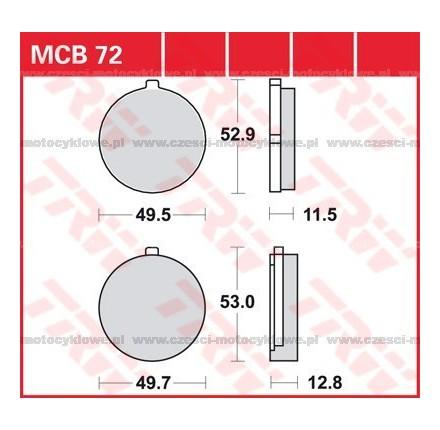 Klocki hamulcowe TRW MCB72