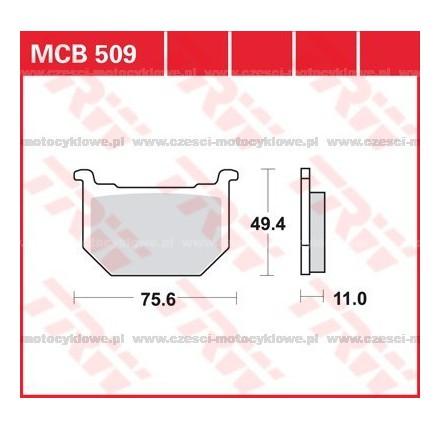 Klocki hamulcowe TRW MCB509