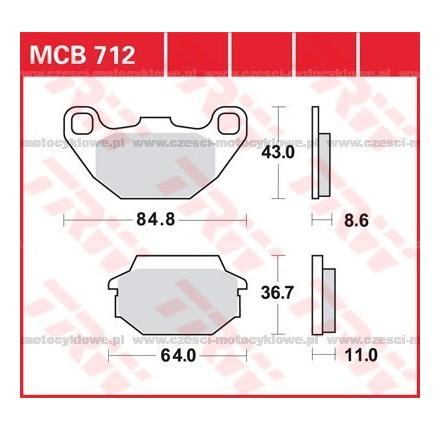 Klocki hamulcowe TRW MCB712SRM