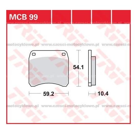 Klocki hamulcowe TRW MCB99