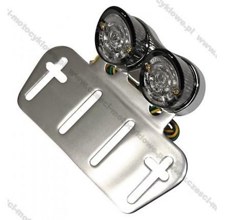 Światła tylne LED Mini NOSE w chromowanej obudowie