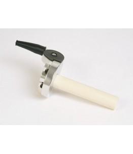 Zestaw montażowy przepustnicy do ATV+MX, aluminiowy, srebrny, regulowana śruba, skok 150°