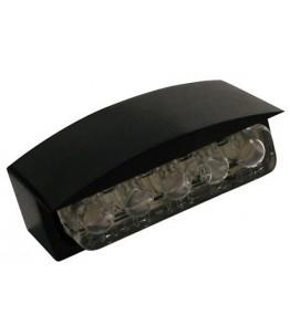 Oświetlenie tablicy rejestracyjnej ALU Mini-LED kolor czarny E-homologacja