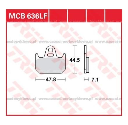 Klocki hamulcowe TRW MCB636