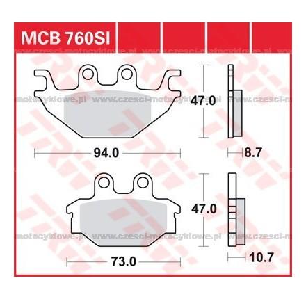 Klocki hamulcowe TRW MCB760