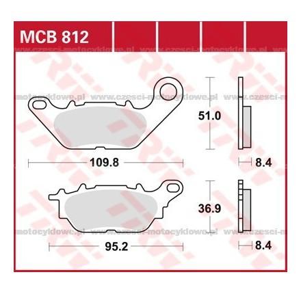 Klocki hamulcowe TRW MCB812