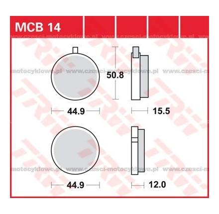 Klocki hamulcowe TRW MCB14