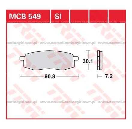 Klocki hamulcowe TRW MCB549SI