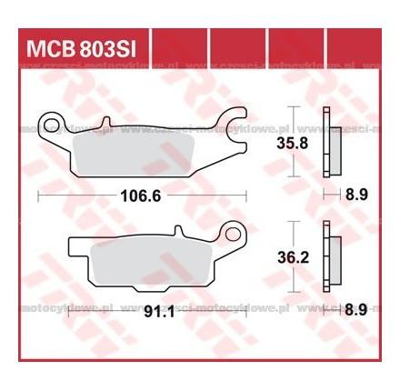 Klocki hamulcowe TRW MCB803SI