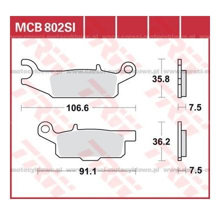 Klocki hamulcowe TRW MCB802SI