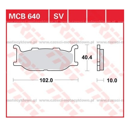 Klocki hamulcowe TRW MCB640SRM