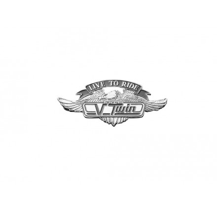 Emblemat V-TWIN LIFE TO RIDE mały. Producent: Highway Hawk.