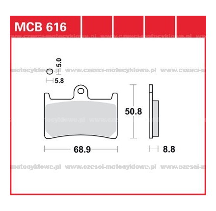 Klocki hamulcowe TRW MCB616