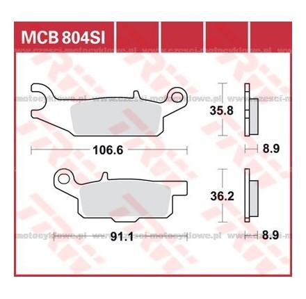 Klocki hamulcowe TRW MCB804SI