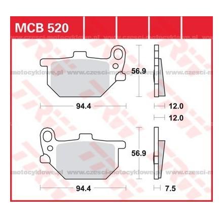 Klocki hamulcowe TRW MCB520